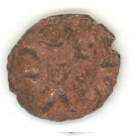 Монета с тамгой Дома Бату. Оборотная сторона монеты