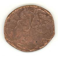 Монета с надчеканкой «хан» Оборотная сторона