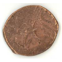 Монета с надчеканкой «хан»