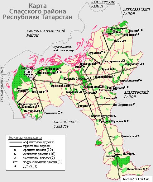 Карта Спасского района